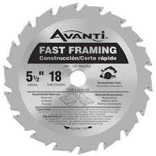Circular Saw Blade For Laminate Flooring Avanti 5 1 2 In X 18 Tooth Fast Finish Saw Blade A05518x The