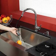 Single Lever Pull Out Kitchen Faucet by Kraus Kpf2230ksd30ch Single Lever Pull Out Kitchen Faucet With Hi