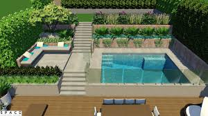 terrace garden with swimming pool youtube