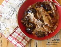cuisiner les pruneaux lapin mijoté à la bière et aux pruneaux une cuillerée pour papa