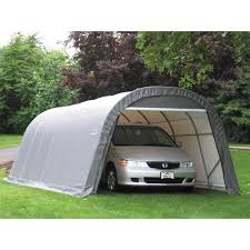 Enclosed Car Canopy by Shelterlogic 12 X 24 X 10 Ft Instant Garage Heavy Duty Canopy