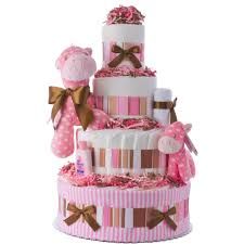 lil baby shower lil pink pony 4 tier cake