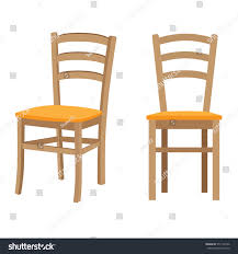 Wooden Chair Clipart Png Wooden Chair Vector Isolated Illustration Stock Vector 577134136