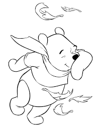 winnie pooh fall wind coloring u0026 coloring pages