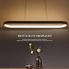 personnalité originalité led restaurant lustre moderne minimaliste