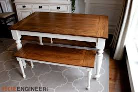 diy solid oak farmhouse table free u0026 easy plans