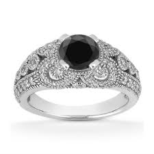 black and white engagement rings engagement rings i want it black
