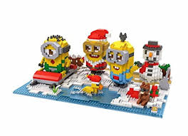 loz diamond blocks loz diamond blocks creator series minion christmas park 9395