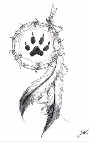 with a wolf print tatoo wolf printing and