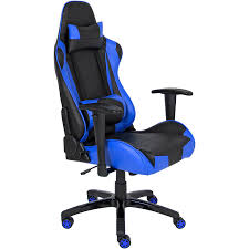 Blue Leather Executive Office Chair Amazon Com Best Choice Products Racing Leather Gaming Office