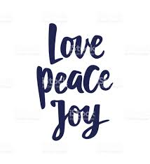 peace text brush lettering greetings