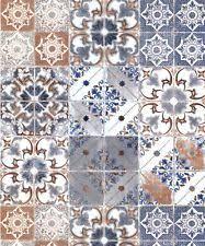 geometric shapes random effect muriva moroccan tiles blue