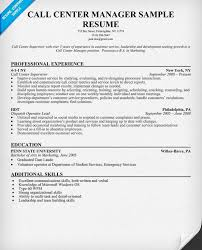 Call Center Supervisor Resume Example by Creative Ideas Call Center Resume Skills 14 Call Center Manager