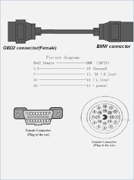 bmw obd 2 20pin connector cable pinout cable and connector fasett info