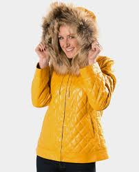 leather jacket with fox trim hood vollbracht furs cleveland and