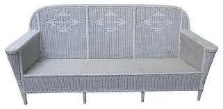 loom sofa vintage deco style wicker sofa lloyd loom sofas by chairish