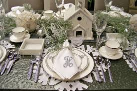 snowflake table top decorations dining rooms wonderful festive room decorations for table setting