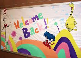 my u0027 u0027welcome back u0027 bulletin board suess style artmuse67