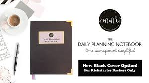 time design planner the daily planning notebook time management simplified by