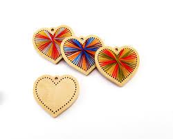 valentine u0027s embroidery diy kit heart homemade ornament