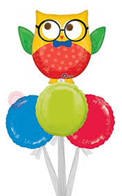 inflated helium balloons delivered hip hip hooray owl jumbo inflated helium balloon delivered in a