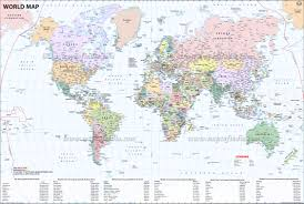Blank Map Of World Political by Large World Map Image