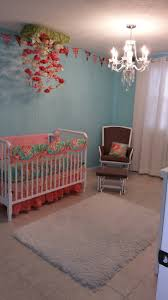 Pink Nursery Rocking Chair Coral Mint Seafoam Green Blue Nursery