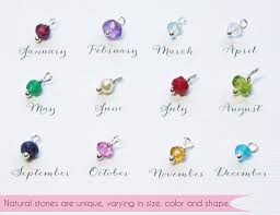 birthstones personalized tiny gold charms discs initials birthstones