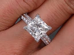 princess cut engagement ring 2 84 ctw princess cut engagement ring h vs2