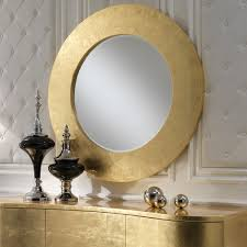 Round Mirrors Contemporary Italian Gold Leaf Round Mirror Juliettes Interiors