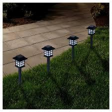 solar garden path lights pure garden outdoor led lantern solar landscaping lights set of 6