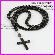 crystal cross pendant necklace images 1pcs black onyx stone cross necklace religious men necklace jpg