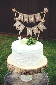 burlap cake toppers burlap cake topper bridal shower to be rustic wedding miss