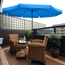 Aluminum Patio Umbrella by 10ft Aluminum Outdoor Patio Umbrella W Valance Crank Tilt Sunshade