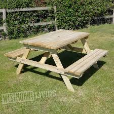 4ft picnic pub garden table bench westmount living