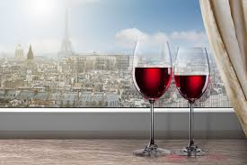 Eiffel Tower Window Curtains by Window Town Paris Eiffel Tower The Window Sill Wine Red Glasses