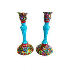 jewish gift wedding gift shabbat shalom shabbat candle sticks