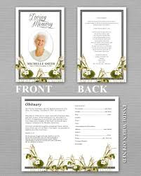 Funeral Program Sample Funeral Obituary Template Funeral Program Template Free Download