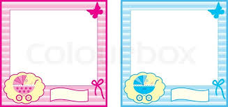 baby photo frame stock vector colourbox
