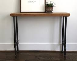 Reclaimed Wood Console Table Wood Console Table Etsy