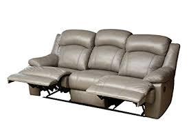 Top Grain Leather Reclining Sofa Abbyson Maverick Top Grain Leather Reclining Sofa