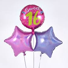 balloon boquet delivery sweet 16th birthday pink balloon bouquet inflated free delivery