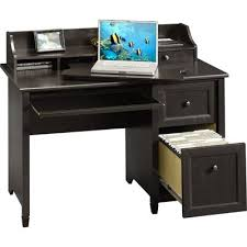 Registry Row Desk Sauder Registry Row Desk In Amber Pine Transitional Desks
