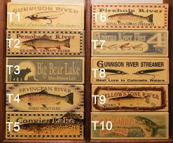 Cabin Decor Four Fly Fishing Lure Boxes Of Your Favorite Trout Stream River