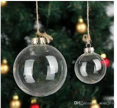 clear glass tree glass balls ornament