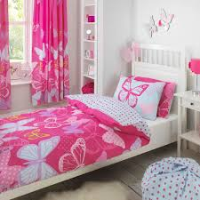 girls pink bedding sets pink and purple butterfly bedding home design and decoration