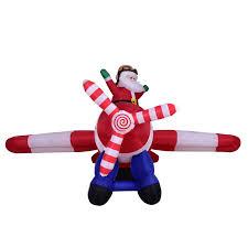 adorable cloth inflatable santa claus aircraft airplane home