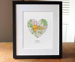 Spokane Washington Map Spokane Washington Heart Map Print Heart Map Spokane
