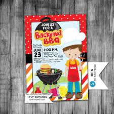 backyard bbq invitation cookout picnic summer party