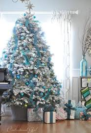 turquoise tree decorating ideas 2014 09